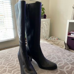 Nine West Knee High Heeled Boots. Size 10